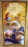 Heaven Fresco Ceiling Vincenzo Anastasio Church Rome Italy. Heaven Fresco Ceiling SS Vincenzo E Anastasio Church Basilica Dome Trevi Rome Italy.  Vincenzo Royalty Free Stock Photos