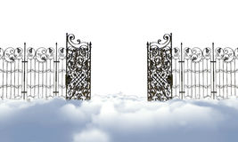 Heaven gate. Heaven golden gates up in the sky Royalty Free Stock Images
