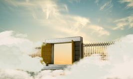 Heaven gate. Illustration of the heaven gate Royalty Free Stock Photos
