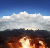 Heaven and hell. Abstract picture that symbolizes heaven and hell Royalty Free Stock Photo