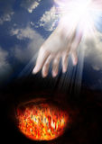 Heaven and Hell. Belief in a God that loves all humans royalty free stock photography