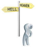 Heaven or hell choice Royalty Free Stock Photos