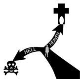 Heaven and Hell. Two way to heaven and hell Stock Images