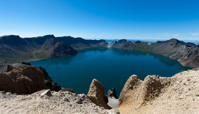 Heaven Lake of Changbaishan. Tianchi (Heaven Lake) of Changbaishan (Changbai Mountains or Baekdu) in Jilin Province, China Stock Photos