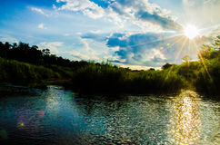 River. Lake in lampang Royalty Free Stock Photo
