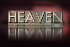 Heaven Letterpress Stock Photos