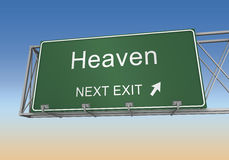Heaven road sign Royalty Free Stock Images