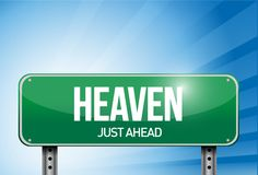 Heaven road sign illustration design Royalty Free Stock Images
