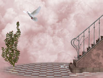 Heaven's Gate 5. 3d render of Heaven's Gate  5 Royalty Free Stock Images