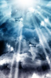 Heaven skies Stock Photo