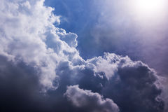 Heaven sky sun cloudscape. Heaven sky abstract air backgrounds cloudscape Royalty Free Stock Photography
