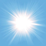 Heaven Star Burst. Illustration of a star burst symbolizing heaven, light from paradise Royalty Free Stock Photo