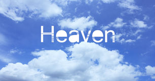 Heaven text Royalty Free Stock Photography