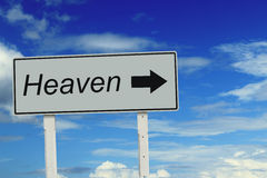 Heaven turn right sign Royalty Free Stock Images