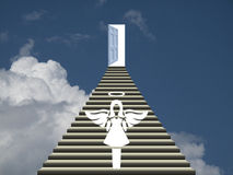 Heaven with welcoming angel Royalty Free Stock Images