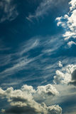 Heaven. White beautiful clouds in the blue skies Royalty Free Stock Photo