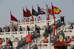 The Heaven Worshipping Ceremony at Temple of Heaven in Beijing Royalty Free Stock Photo