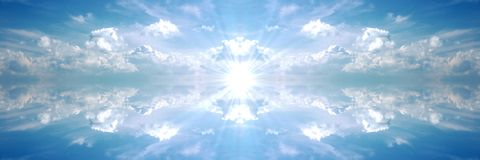 Heavenly Banner dark sun Royalty Free Stock Photography