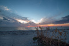 Heavenly beach sunset Royalty Free Stock Images