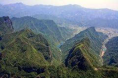 heavenly bergsikt Arkivfoton