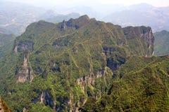 heavenly bergsikt Arkivbilder