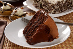 Heavenly chocolate cake Stock Photography
