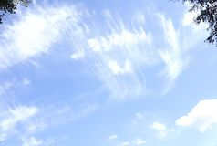 Heavenly Cirrus clouds cool looks. Heavenly Cirrus clouds cool texture stock photo