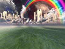 Free Heavenly City Royalty Free Stock Image - 132176256