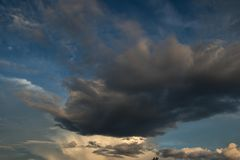 Heavenly clouds in the evening Royalty Free Stock Photography