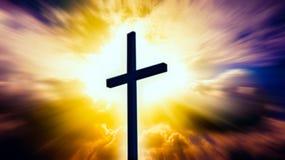 Heavenly Cross . Religion symbol shape . royalty free stock photos