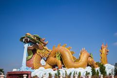 Heavenly Dragon Park Suphanburi Province stock image