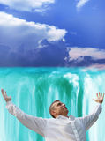 Heavenly falls Stock Images
