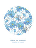 Heavenly flowers circle decor pattern background Stock Image