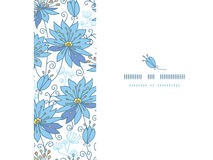 Heavenly flowers horizontal seamless pattern Stock Photos