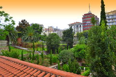 Heavenly garden Thessaloniki downtown Royalty Free Stock Photos