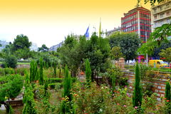Heavenly garden in Thessaloniki downtown Royalty Free Stock Images