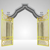 Heavenly Gate With Open Gold Fence Vector Stock Photos