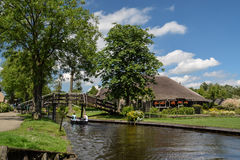 The heavenly Giethorrn in Netherlands Stock Images
