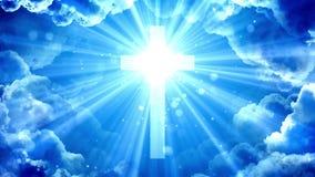Heavenly glorious cross royalty free illustration