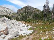 Heavenly Hiking Trail in Medicine Bow Wyoming Stock Photo