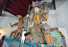 Heavenly Kings Statues in YingJiang Temple Stock Photography