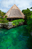 Heavenly lagoon in the Mayan Riviera Royalty Free Stock Photography