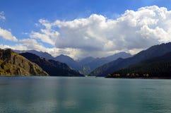 Heavenly Lake. In Urumqi,China stock photos