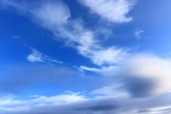 Heavenly landscape with clouds stock photos
