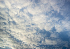Heavenly landscape with Cumulus clouds. Stock Photos