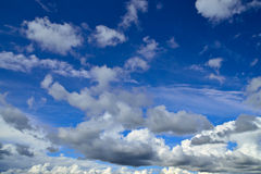 Heavenly landscape with Cumulus clouds Royalty Free Stock Photography