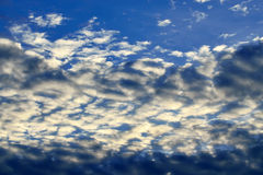 Heavenly landscape with Cumulus clouds Royalty Free Stock Image