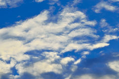 Heavenly landscape with Cumulus clouds Stock Photography