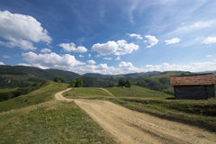Heavenly landscape. Mountainous landscape in late summer Stock Images