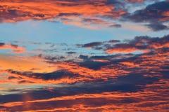 Heavenly landscape in scarlet Stock Image